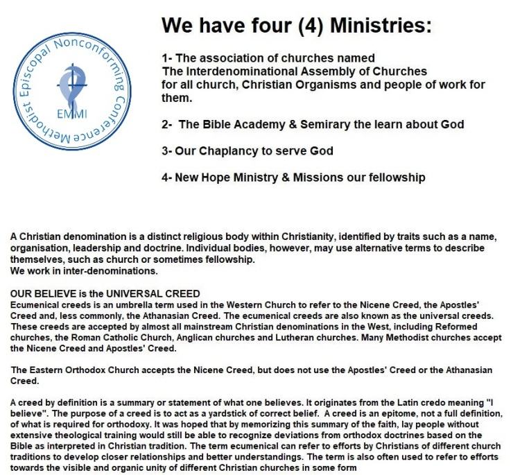 The Ministries – Interdenominational Assembly of Churches